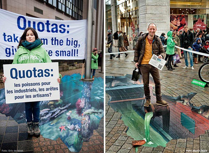 Greenpeace Illusionsmalerei