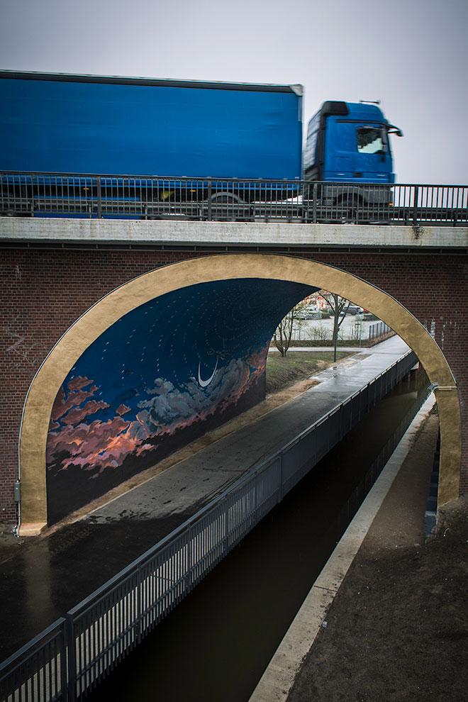 Die Brücke von Wilhelmsburg