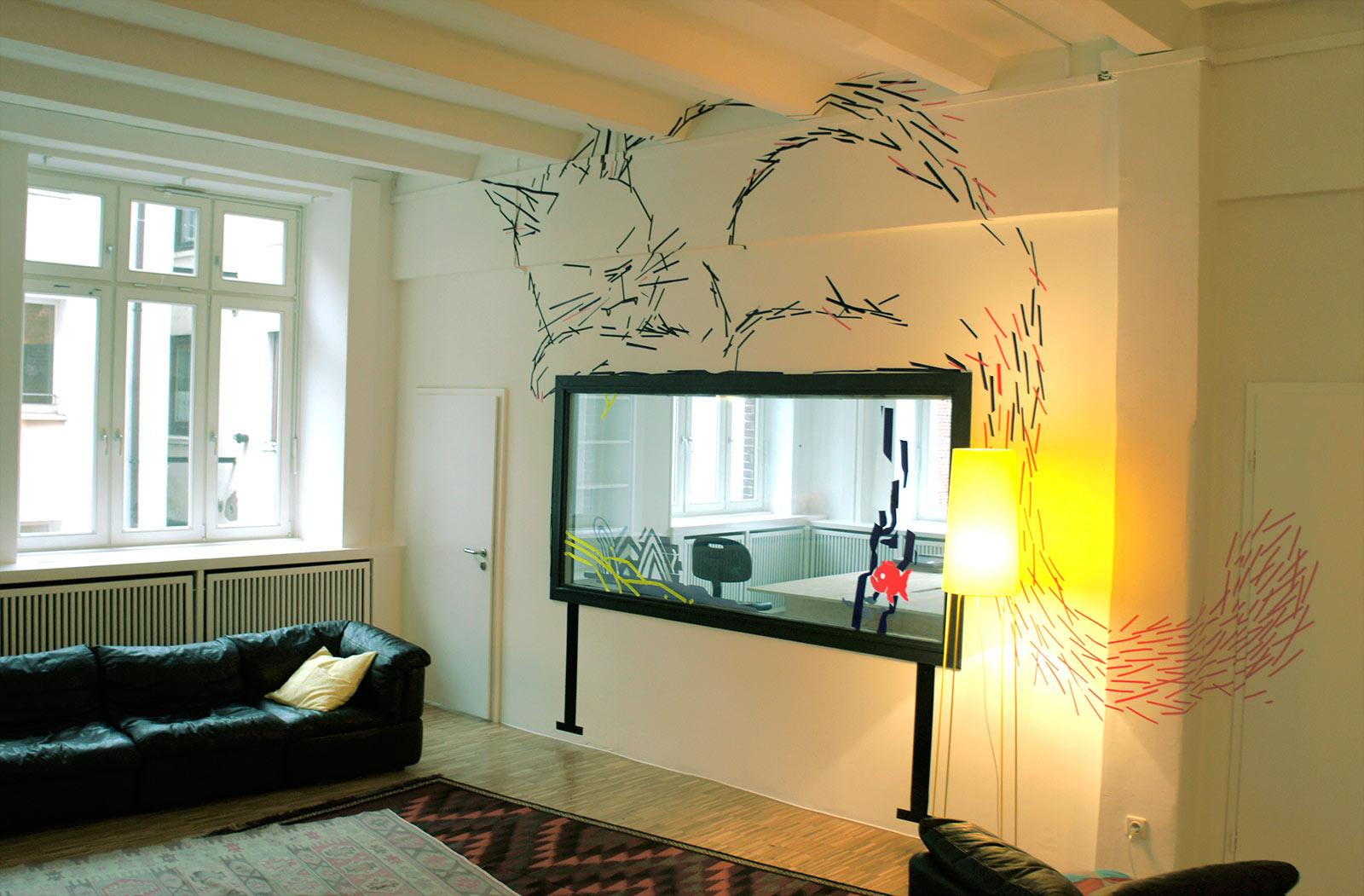 Tapeart – gezeichnet mit Klebeband in der JvM Academy