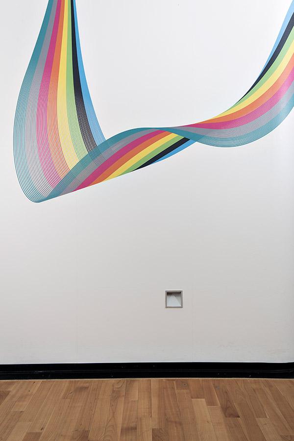 Schwungvolle Farbwelle