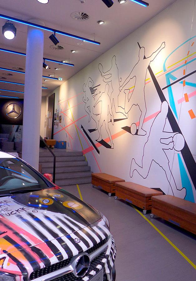 Tape Art II im Mercedes me-Store