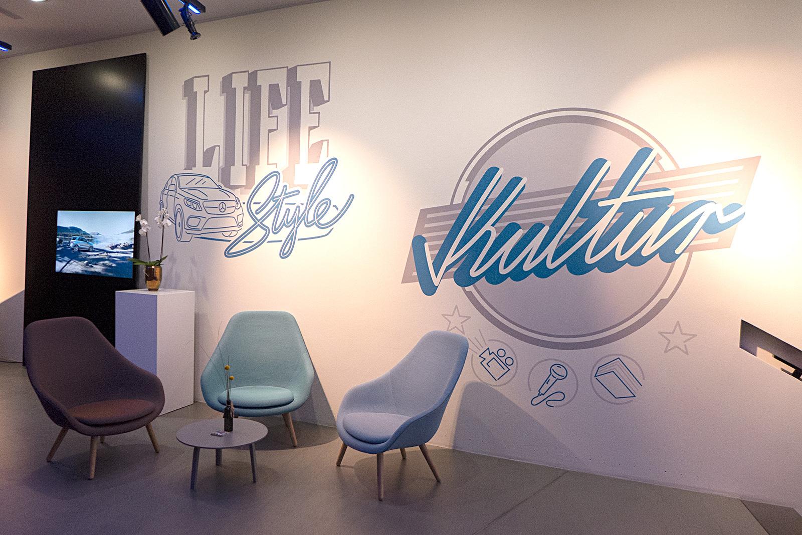 Wandbild Lifestyle und Kultur im Mercedes Store Hamburg