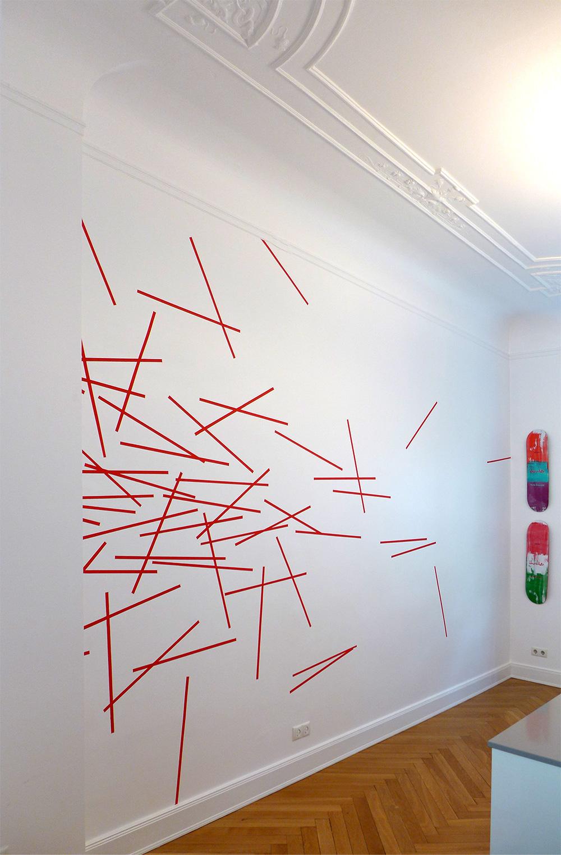 Minimales abstractes Wanddesign
